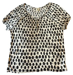 Weston Wear Top cream with black and grey painterly spots