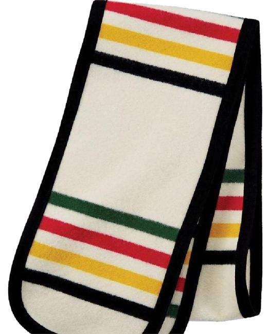 Item - Red Blue White Green Yellow Black Glacier Park Scarf/Wrap