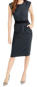J.Crew Genuine Fitted Wool Pockets Dress
