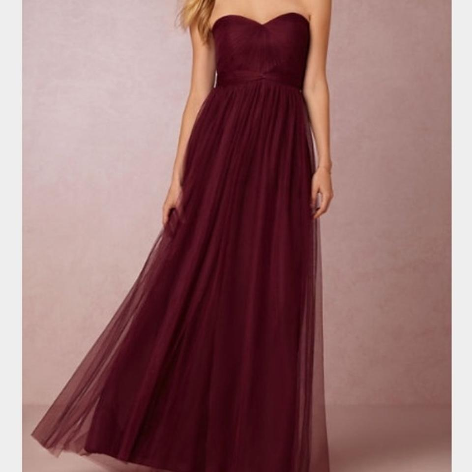 c6833f3bc02 Jenny Yoo Cabernet Soft Tulle Annabelle Convertible Formal Bridesmaid Mob  Dress