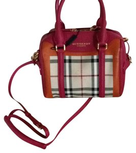 Burberry Satchel in Pink/orange/horseferry check