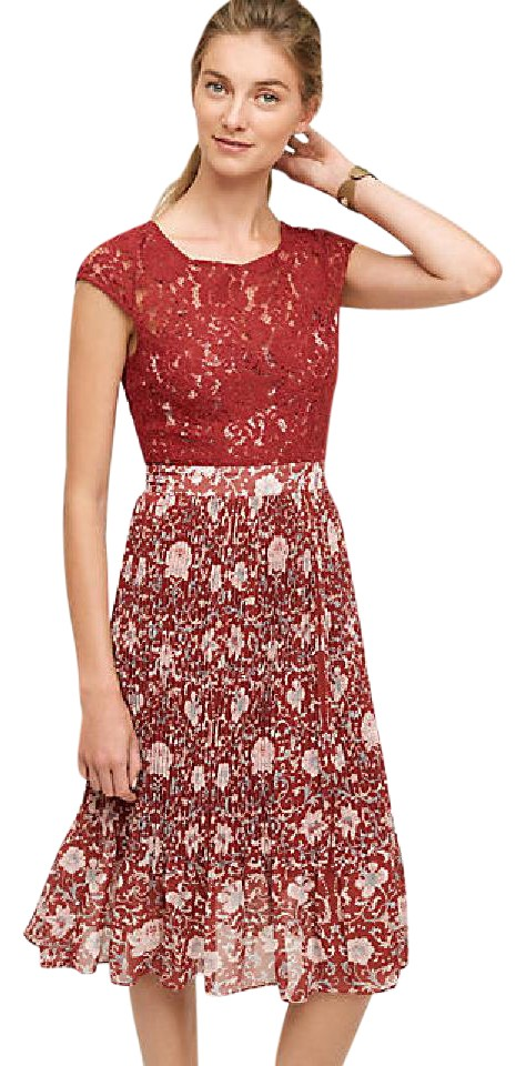 Anthropologie Plenty By Tracy Reese Arcadia Midi Mid-length Cocktail ... f40900a2c