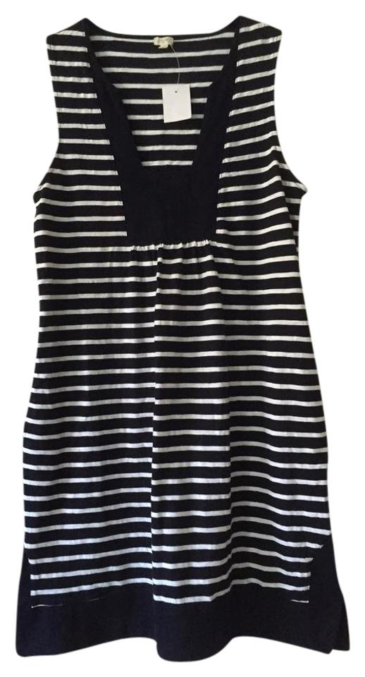 82928689d91 J.Crew Navy   White Nautical Striped Cotton Short Casual Dress Size ...