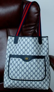 Gucci Accessory Collection Made In Italy Pocket Gg Monogram Tote in Blue