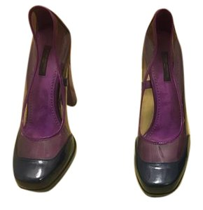 Louis Vuitton Mod Plastic Chunky Heel Purple and Blue Pumps