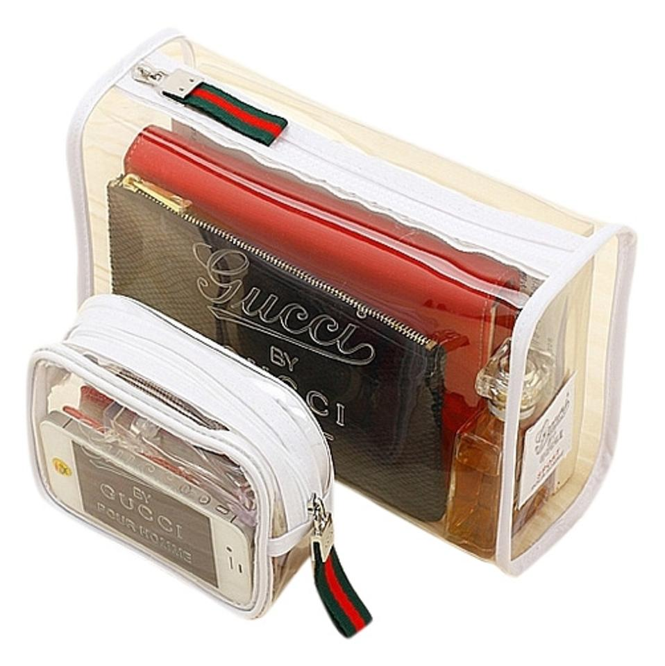 dd296bca1f99 Gucci NEW Two Gucci Sport Pour Homme Perfume Clear Toiletry Travel Cosmetic  Makeup Bag ...