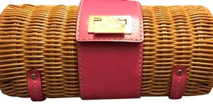 Kate Spade wicker/pink Clutch