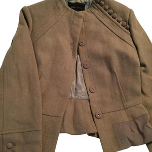 BCBGMAXAZRIA BCBG Fitted Tan Suit