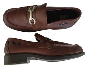 Frye Leather Loafers Horse Bit Brown Flats