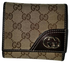 Gucci GG Pattern Trifold Wallet