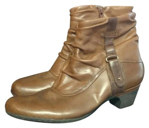 Rockport Leather Antiqued Buckle Stone Boots