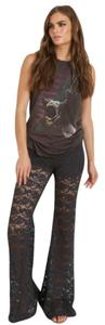 Nightcap Lace Bell Luxe Gypsy Flare Pants Black