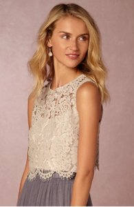BHLDN Harbor Mist Nylon Cotton Rayon Cleo Top (This Is Top Not A Feminine Bridesmaid/Mob Dress Size 4 (S)