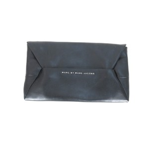 Marc by Marc Jacobs Leather Fashion Envelope Medium Black Clutch