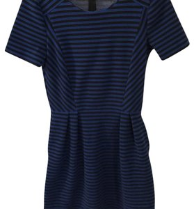 Madewell short dress black and blue stripped on Tradesy