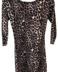 Express short dress black leopard on Tradesy