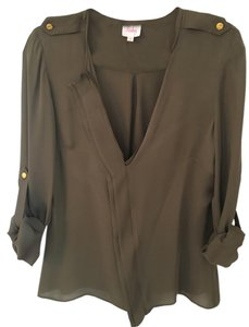 Parker Silk Top Army Green