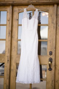 Galina Galina Lace Gown With Ribbon Detail - Straps Added Wedding Dress