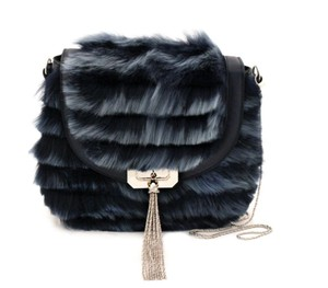 Marchesa New In Box Kay Fur Cross Body Bag