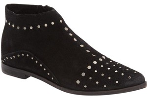 Free People People Aquarian Studded Suede Desert 38 Black Boots