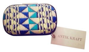 Antik Kraft Blue & Lime Clutch