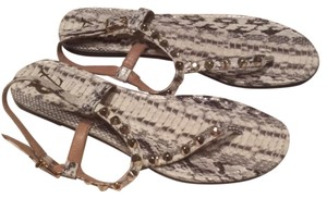 Vince Camuto cream and gray Sandals