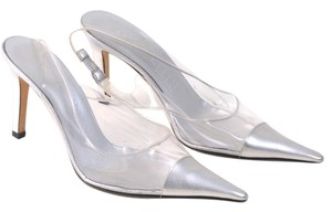 Anne Klein Slingback Clear Silver Pumps