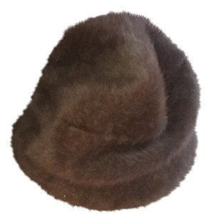Kangol VTG BROWN AUTHENTIC KANGAROO FUR HAT