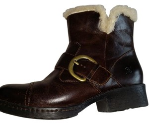 Børn Leather Chunky brown Boots