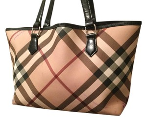 Burberry Nova Check Tote in Burberry plaid red /tan/black