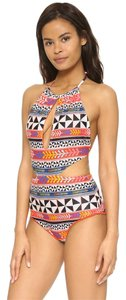 Mara Hoffman Slit Front One Piece in Pinwheel Poppy