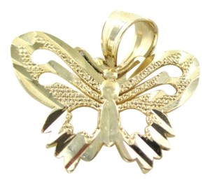DZ 14K SOLID YELLOW GOLD PENDANT BUTTERFLY CHARM 1.2 GRAMS FINE JEWELRY DESIGNER DZ