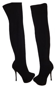 bebe Over The Knee Black Boots