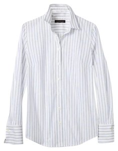 Riley-fit multi-stripe shirt Button Down Shirt stripes white and blue