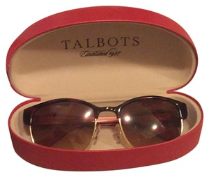 Talbots red and tortoise sunglasses like new from tablots ! case included retail $125 !
