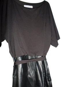 Trina Turk Leather Size 2 Dress