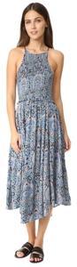 blue Maxi Dress by Free People Spring Festival Hippie Boho Bohemian