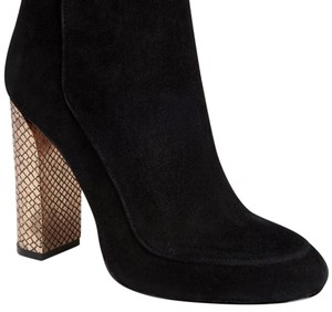 Michael Kors Chain Suede Jasalina Black Boots