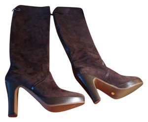 Hermès BROWN SUEDE WITH LEATHER TRIM Boots