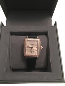 Michele Michele Rose Gold Deco 16 with Beige Dial