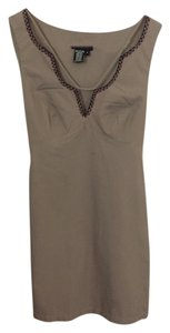 BCBGMAXAZRIA short dress Safari Khaki on Tradesy