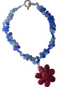 Jules Reid Raw Ruby & Semi-Precious Stone 2-Way Necklace