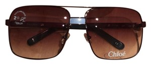 Chloé Chloe large square aviator sunglasses