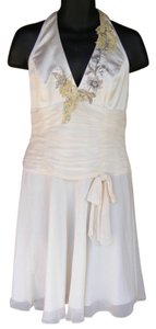Papell Boutique Marilyn Monroe Chiffon Embellished Lace Beaded Dress