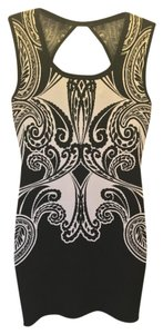 Guess Bodycon Sweater Paisley Mini Dress