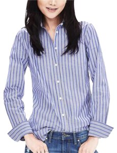 Banana Republic Button Down Shirt blue stripe whites