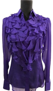 Dolce&Gabbana Silk Size 4 Top Purple
