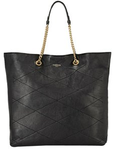 Lanvin Chain Sugar Tote in Black
