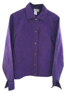 Coldwater Creek Textured Silk purple Jacket