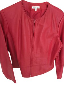 Yvonne Marie Leather Lined red Leather Jacket